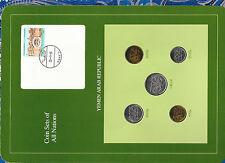Coin Sets of All Nations Yemen 1974-1985 UNC 50 Fils, 1 Riyal 1985, 25 Fils 1979