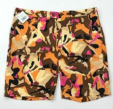 NEW Loudmouth Golf Tango Cotton Blend Tour Shorts Size 42 Wild Print Go Go Girls