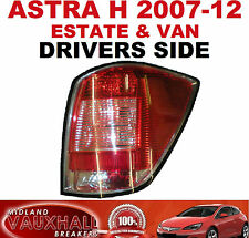 ASTRA H VAN ESTATE REAR BACK LIGHT LENS DRIVERS OFF SIDE CDTI SPORTIVE DESIGN