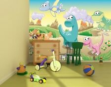 Grand papier peint mural mur pour pour enfants piéce & nurserie Dinosaures