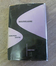 BAUDELAIRE by Jean-Paul Sartre - 1st HCDJ 1950  - new directions