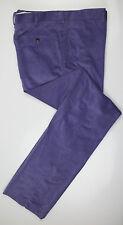 New. RALPH LAUREN PURPLE LABEL Purple Cashmere Blend Corduroy Pants 56/40 $495