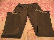 VINTAGE LEVI'S BLACK DENIM FADED 501-0658 JEANS RED TAG MADE IN USA 28/34