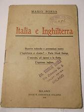MARIO BORSA - ITALIA E INGHILTERRA - 1916 MANOVRE TEDESCHE, LLOYD GEORGE WWI L-5