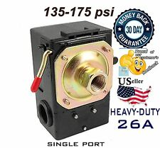 Pressure Switch for Air Compressor 135-175 psi SINGLE 1 PORT 26A LEFOO Universal