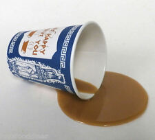 FAKE FOOD DINER SPILLED NY GREEK COFFEE TO GO