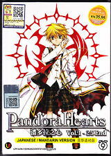 *NEW* PANDORA HEARTS *25 EPISODES*ENGLISH SUBTITLES*ANIME DVD*US SELLER*