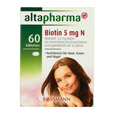 ALTAPHARMA BIOTIN - Hair Skin Nails Strength 5 mg N - 60 Tablets - Germany.