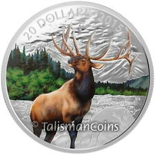 Canada 2015 Iconic Canadian Animals 7 Majestic Elk Wapiti Deer $20 Silver Proof