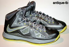NIKE LEBRON X 10 CANARY DIAMOND MENS 10 NEW 541100 007 DS 2012 GREY YELLOW