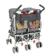 Maclaren Universal Twin Buggy / Pushchair Organiser - Charcoal New