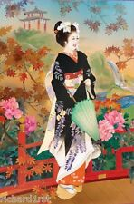 Jigsaw puzzle Ethnic Japanese Kimono Higasa 1000 piece NEW Made in USA