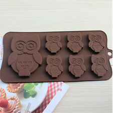 Cake Mold Soap Mold 7-Owl Bird Flexible Silicone Mould For Candy Chocolate