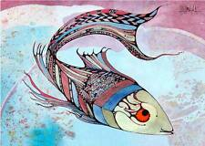 ACEO Fantasy Fish Limited Edition Print of Original Painting by Xenia Hahonina