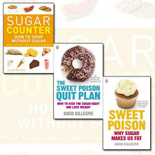 David Gillespie Sweet Poison Collection Sugar Counter 3 Books Set Pack NEW PB