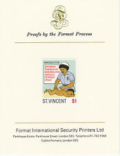 St Vincent (2069) - 1987 Child Health $1 imperf on Format Int PROOF  CARD