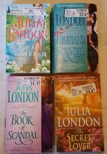 lot of 4 Julia London historical romance Scottish + Regency - Highland Scandal +