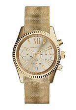NEW MICHAEL KORS MK5938 LADIES GOLD MESH LEXINGTON WATCH - 2 YEAR WARRANTY