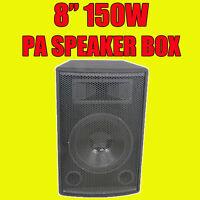 """QTX Sound QT8 8"""" Passive 150W PA DJ Disco Subwoofer Speaker Sub Bass Bin Box"""