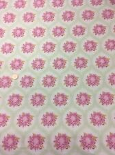 "Tilda Pink Green Floral 100% Quilting Craft Cotton Fabric 56"" Wide"