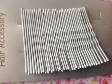 PACK 36 WHITE 4.5cm METAL KIRBY CLIPS GRIPS PIN UP BUN HAIR STYLE BOBBY PINS