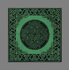 Handmade 100% Cotton Celtic Wheel of Life Cushion Cover Shell 17x17 Green