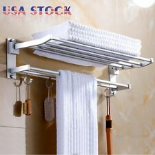 2-Tier Bathroom Shower Shelf Corner Toilet Organizer Bath Caddy Rack Storage 24""