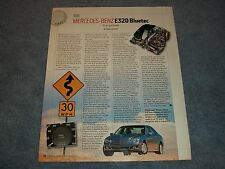"2007 Mercedes-Benz E320 Bluetec Diesel Info Article ""10-4, Gut Buddy"""