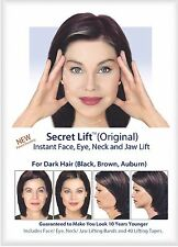 Secret Lift Instant Face and Neck Lift (Dark Hair) Facelift Tapes and Bands