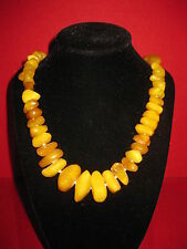 66,9 g OLIVE Nature real  Amber Butterscotch Necklace Yolk Natur Bernsteinkette
