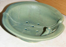 Celadon Green Ceramic/Pottery Frog Soap Dish w/Drainage Holes Made in Bali