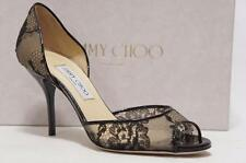 JIMMY CHOO LIEN LACE D'ORSAY BLACK PUMPS HEEL SHOES 39/8.5 $750