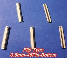 FFC/FPC Connector 45Pin pitch 0.5mm Flip Type Bottom Contact