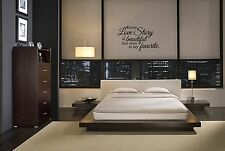 """EVERY LOVE STORY IS BEAUTIFUL BEDROOM HOME WALL DECAL VINYL WORDS LETTERING 23"""""""