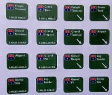 HO TYCO US-1 TRUCKING Slot Car Highway Signs Sticker Paper New Repoduction