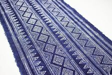 Hmong Traditional Graphic Fabric Printed by Hand Vintage Style Fabric 421
