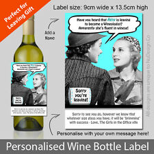 Personalised Fun & Unique Wine Bottle Label. Ideal Gift for a Leaving Present