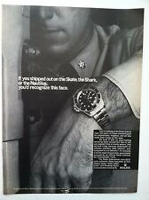 ROLEX 1966 SUBMARINER CHRONOMETER ORIGINAL SKATE, SHARK NAUTILUS RARE WATCH AD