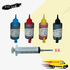 4PK 100ML Refill Ink Kit for Canon PG-245 CL-246 MG2420 MG2520 MG2920 MG2922