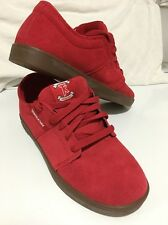 Supra Terry Kennedy Red Suede Gum Sole Sneakers Skater Shoes US 6 EU 38.5 NEW