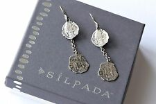 Silpada RARE Coin Collector Incentive Sterling Silver Dangle Drop Earrings HTF!