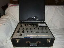 HICKOK MODEL 752A TUBE TESTER WITH ORIGINAL INSTRUCTION MANUAL