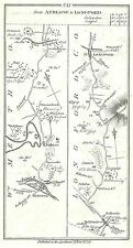Antique map, Roads from Athlone to (i) Longford (ii) Rosscommon (iii) Lanesboro