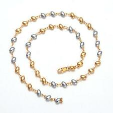New Cool 20inches 16.5g 18K Yellow&White Gold Plated Necklace Chain C86
