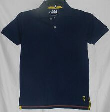 77Kids by AE Polo Shirt Dark Navy Blue 12 L American Eagle Cotton Short Sleeve