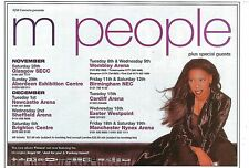 M PEOPLE  1998 Tour UK magazine ADVERT / mini Poster 8x6 inches