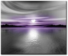 Single Total 54x40cm CANVAS WALL ART QUALITY PRINTS DIGITAL ART TALC Purple