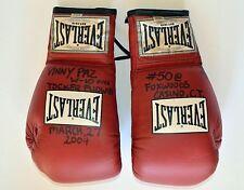 "Vinny ""Paz"" Pazienza Boxing Fight Boxing Gloves 50th Win Final Fight PAZ LOA"