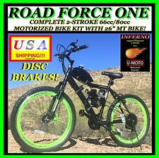 "COMPLETE DIY 2-STROKE 66CC/80CC MOTORIZED BIKE KIT WITH 26"" DISC BRAKE BICYCLE"