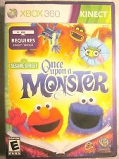 SESAME STREET - ONCE UPON A MONSTER (Xbox 360, 2011) Fine, No Scratches On Disc